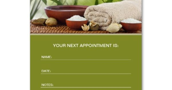 Day Spa Massage Aromatherapy Appointment Card Business