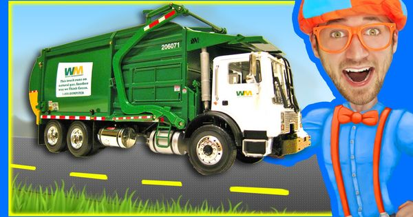 Garbage Trucks For Children With Blippi Learn About Recycling Recycle Preschool Garbage Truck Recycling
