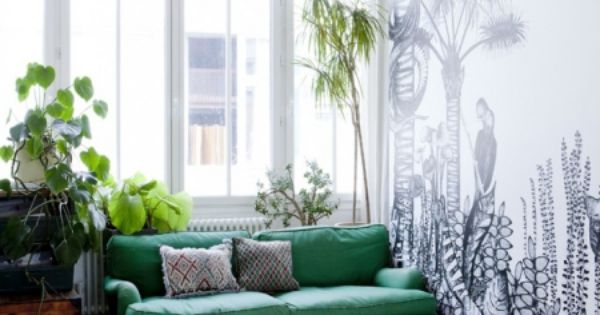 Papier Peint Tropical Tropical Wall Salons Living Rooms Pinterest Papier Peint