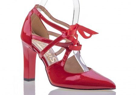 Czerwone Czolenka Na Slupku Z Kokarda Heels Fashion Shoes
