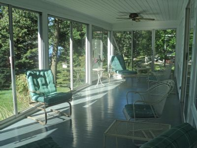 Enclosed Porches With Doors | Enclosed Porch   Sliding Glass Doors To  Living Room U0026 Outside