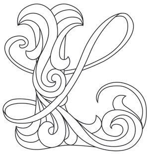Letter Perfect L Alphabet Design Embroidery Letters Patterns