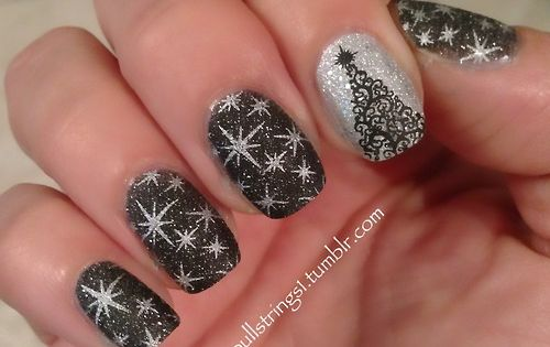 Nail Designs Holiday New Year | ... New Years Eve Brilliant Nail