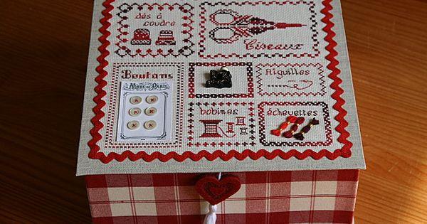 Boite couture cartonnage pinterest boite et cartonnage for Boite a couture a decorer