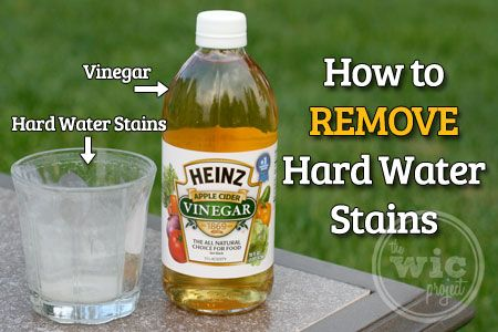Removing Hard Water Stains With Heinz Apple Cider Vinegar Hard