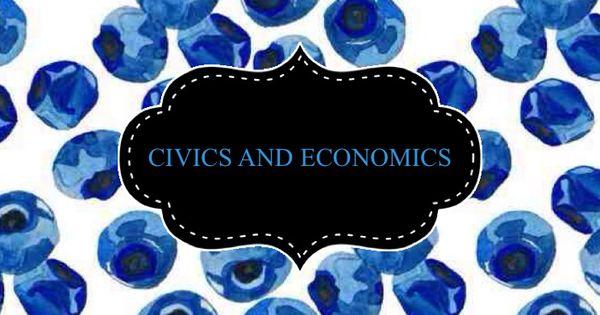 civics and economics binder cover