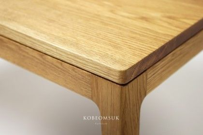 Kobeomsuk Furniture Seoul South Korea White Oak Dining Table W1400 D800 H730 Kob Oak Dining Table White Oak Dining Table Japanese Furniture