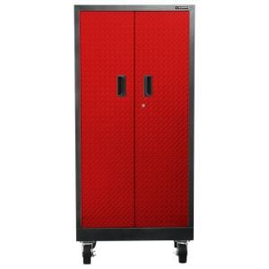 Gladiator Premier Series Pre Assembled 35 In H X 28 In W X 25 In D Steel 2 Door Rolling Garage Cabinet In Red Tread Gagb272ddr Garage Cabinets Garage Shelving Units Garage Wall Cabinets