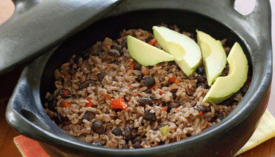 Arroz Congri (Cuban Rice and Black Beans) cuban rice blackbeans vegetarian pescetarian