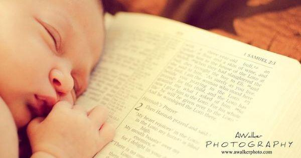 Newborn cute photography photo idea / pose on a Christian bible verse: