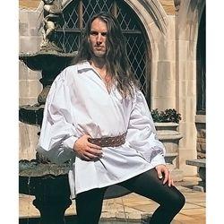 Mens Elizabethan Cotton Renaissance Shirt Swordsmans Shirt