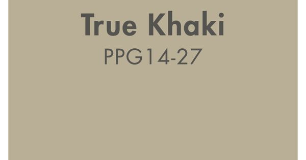 True Khaki from PPG Pittsburgh Paints is a classic neutral paint color. | Beige Paint Colors ...