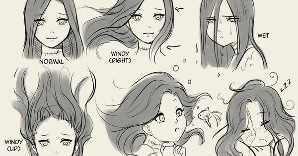 Hair Flow Desenho De Cabelo Cabelo Manga Desenhos De Penteados