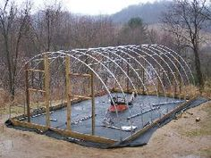 Diy Hoop House This Site Has Pdf Instructions We Made One 15x20 For A Few Hundred There Is A Greenhouse S Homemade Greenhouse Greenhouse Greenhouse Plans
