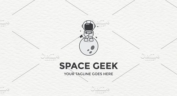 Astronaut – space inspired Logo