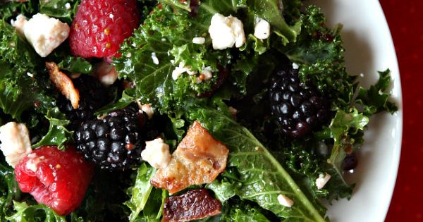 Kale salads, Blackberries and Kale on Pinterest
