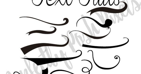Font Tails Svg Vector Text Tails Font Swoosh Text Swoosh: Text Tails Text Swoosh Svg Eps Pdf Instant Download