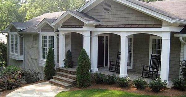 Ranch home porches add appeal and comfort casa de campo - Porches de casas de campo ...