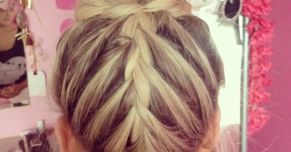 #tumblr hair bun braid weheartit