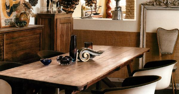 Warm, richly textured dining space! Mark G. Peters Fonte: AD Novembre 2010