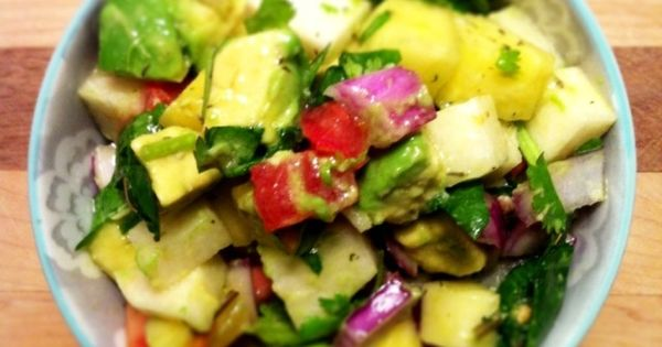 Tropical Chopped Salad | Raw Soups and Salads! | Pinterest | Chopped ...