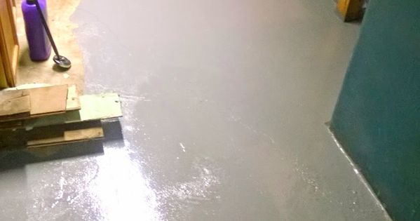 Water In The Basement Seal Concrete Floors With Epoxy