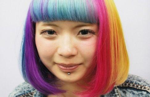 Short Rainbow Bob Hairstyle 2013 Bob Hairstyle Bobs And