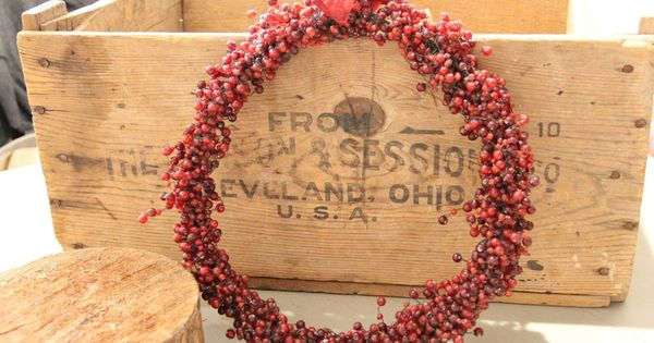 Vintage Glass Beaded Wreath Garland Pottery Barn