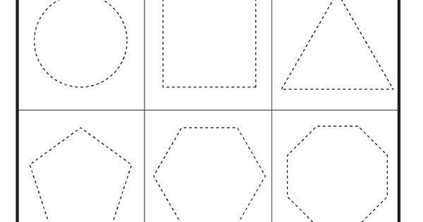 Preschool Shapes Tracing Worksheet