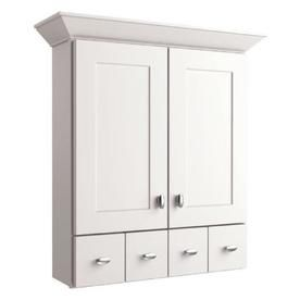 Allen Roth Palencia White 34 In H X 25 In W X 8 In D Painted