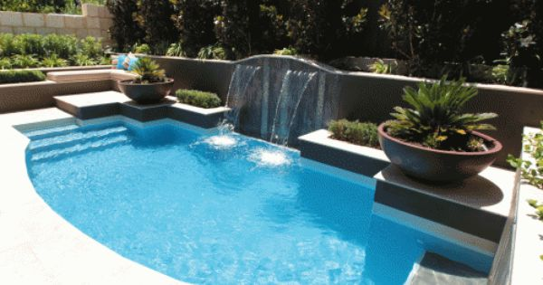 Residential landscape gallery perth western australia - Swimming pool water features perth ...