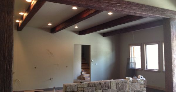 Pinterest the world s catalogue of ideas for Old world traditions faux beams