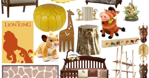 The lion king nursery by molly pop on polyvore deco for Decoration chambre le roi lion