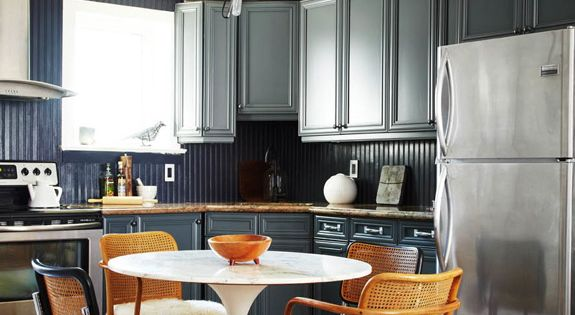 Eat In Kitchen Mismatched Chairs And Cabinets On Pinterest