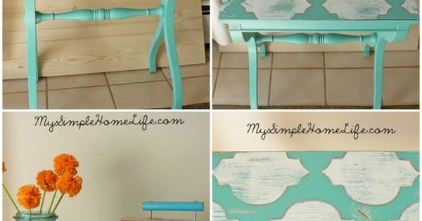 Buy cheap TV trays and paint them! Cute bedside table or end