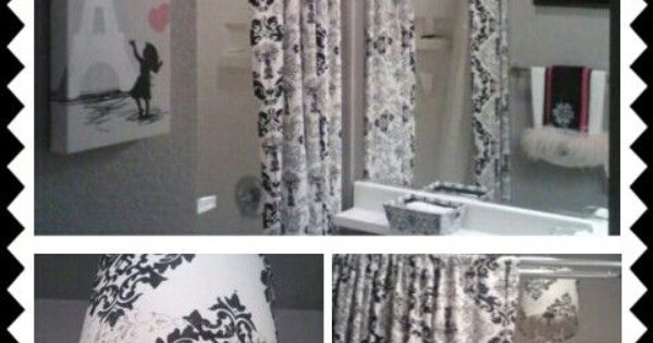 Pink And White Toile Wallpaper Bathroom Damask Bathroom