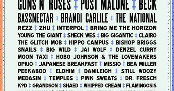 Voodoo Music Festival Current and Past Lineup Posters