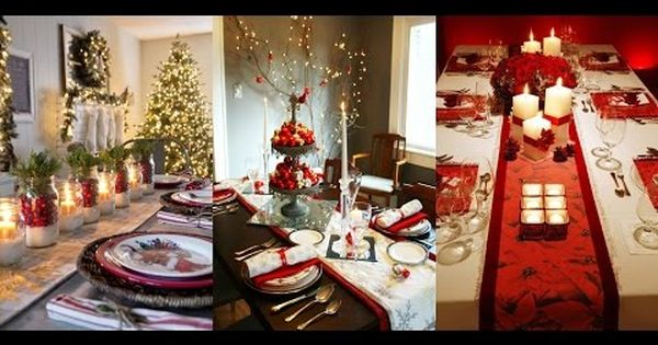 40 ideas de arreglos de mesa para navidad   decoración navideña de ...