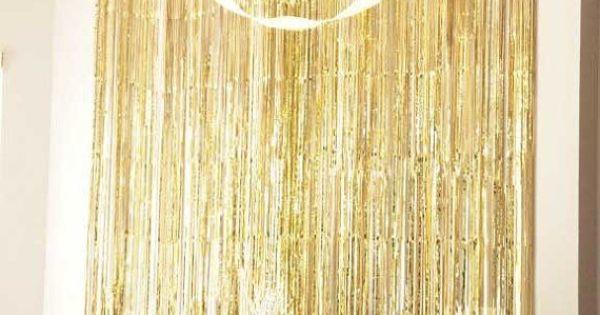 Metallic Fringe Curtain Photo Decor Backdrop By