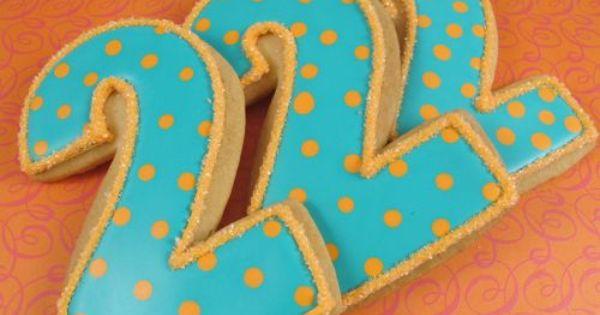 Pretty Number Cookies Cookies Name Number Monogram