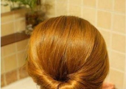 Simple updo. hair style updo hairstyle