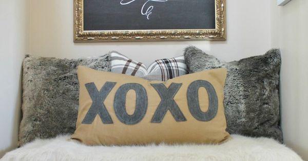 Anthro Inspired Xoxo Pillow Copycat Home Decor