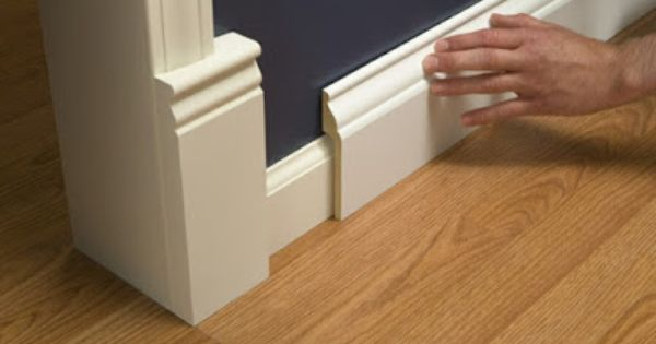 Install Wide Baseboard Molding Over Existing Narrow