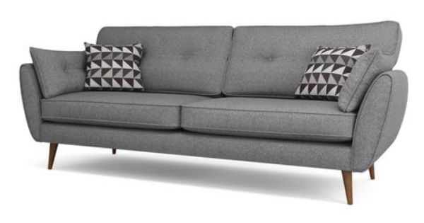 Zinc 4 Seater Sofa Zinc | DFS | Seater sofa, Stylish sofa