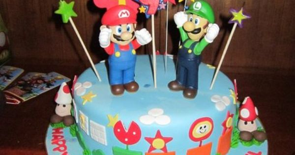 Mario birthday cake. Cute!