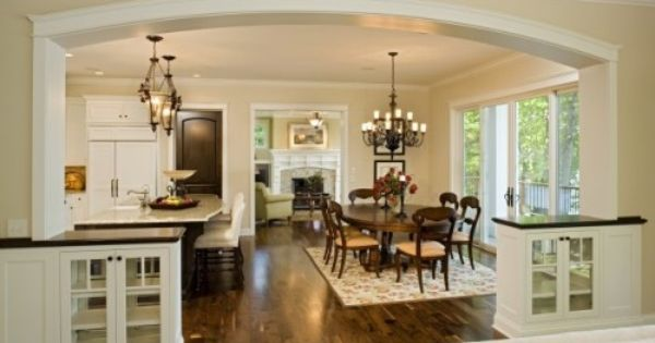 Open floorplan and easy flow neutral colors and the wide for Neutral colors for kitchen and dining room