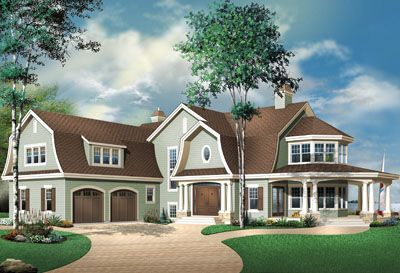 Early American Style House Plans 4075 Square Foot Home 2 Story 4 Bedroom And 3 Bath Country Style House Plans Drummond House Plans House Plans Farmhouse