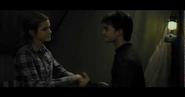 Hermione And Harry Dancing In A Tent Deathly Hallows Part 1 Hd Mp4 Deathly Hallows Part 1 Harry Potter Hermione Deathly Hallows