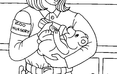 Zookeeper Familycorner Com Zoo Coloring Pages Coloring Pictures For Kids Coloring Pages