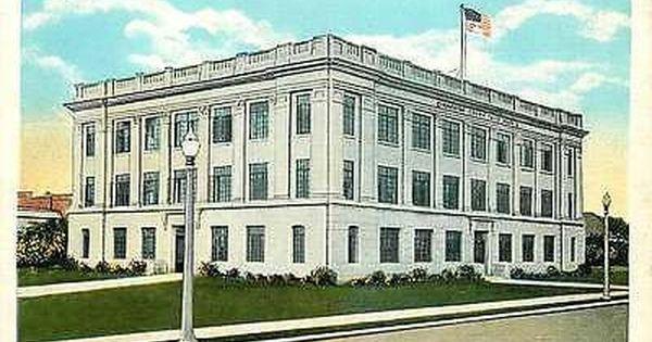 Ada Oklahoma Ok 1928 Pontotoc County Court House Antique Vintage
